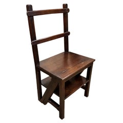 19th Century Oak Gothic Revival Metamorphic Chair or Steps