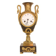 19th Century French Empire Urn Clock
