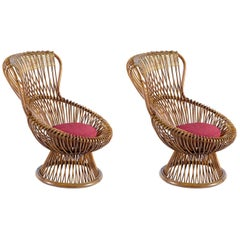 Franco Albini Pair of Margherita Armchairs Midcentury for Bonacina, 1950s