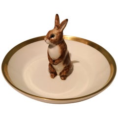 Porcelain Bowl Hand with Easter Rabbit Figure Sofina Boutique Kitzbuehel