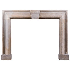19th Century Limestone Bolection Fire Surround