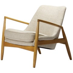 Early Seal Lounge Chair by Ib Kofod-Larsen in Birch, Sweden, 1956