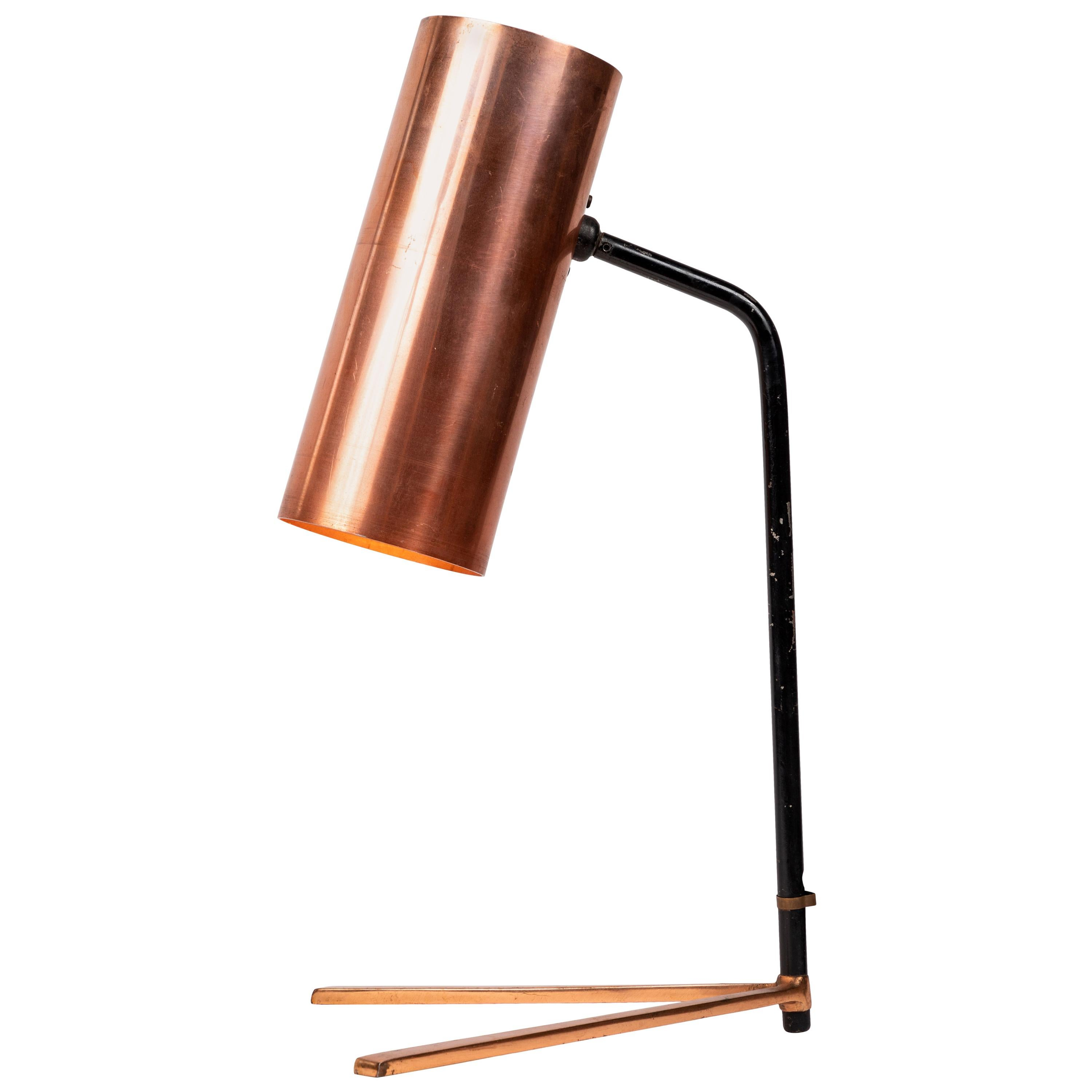 1950s Stilux Copper and Metal Table Lamp