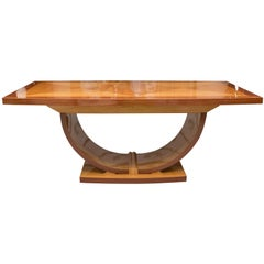 Italian Satinwood Dining Table in the Manner of Karl Springer
