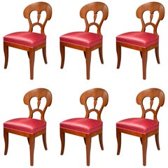 Set of Six Biedermeier Style Side Chairs
