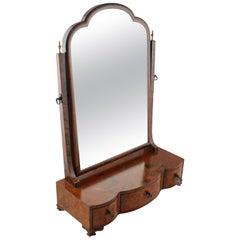 18th Century Style Burr Walnut Dressing Table Mirror