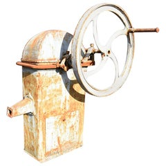 Antique Pump with Wheel, 19th Century