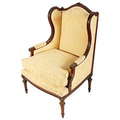 French Walnut Fauteuil Armchair