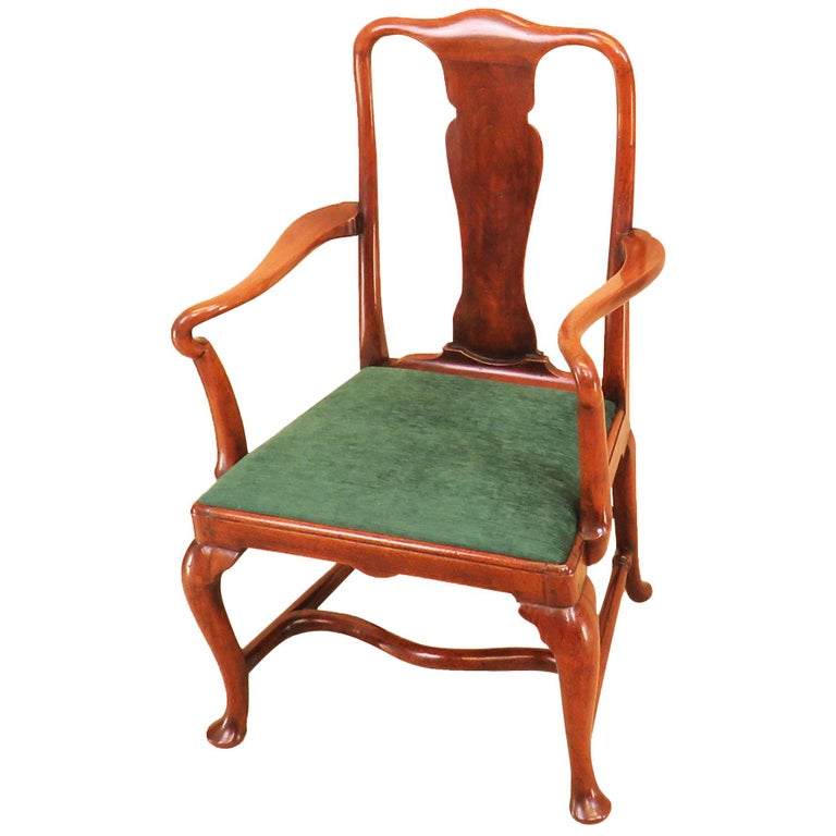 18th Century Georgian Walnut Desk Armchair