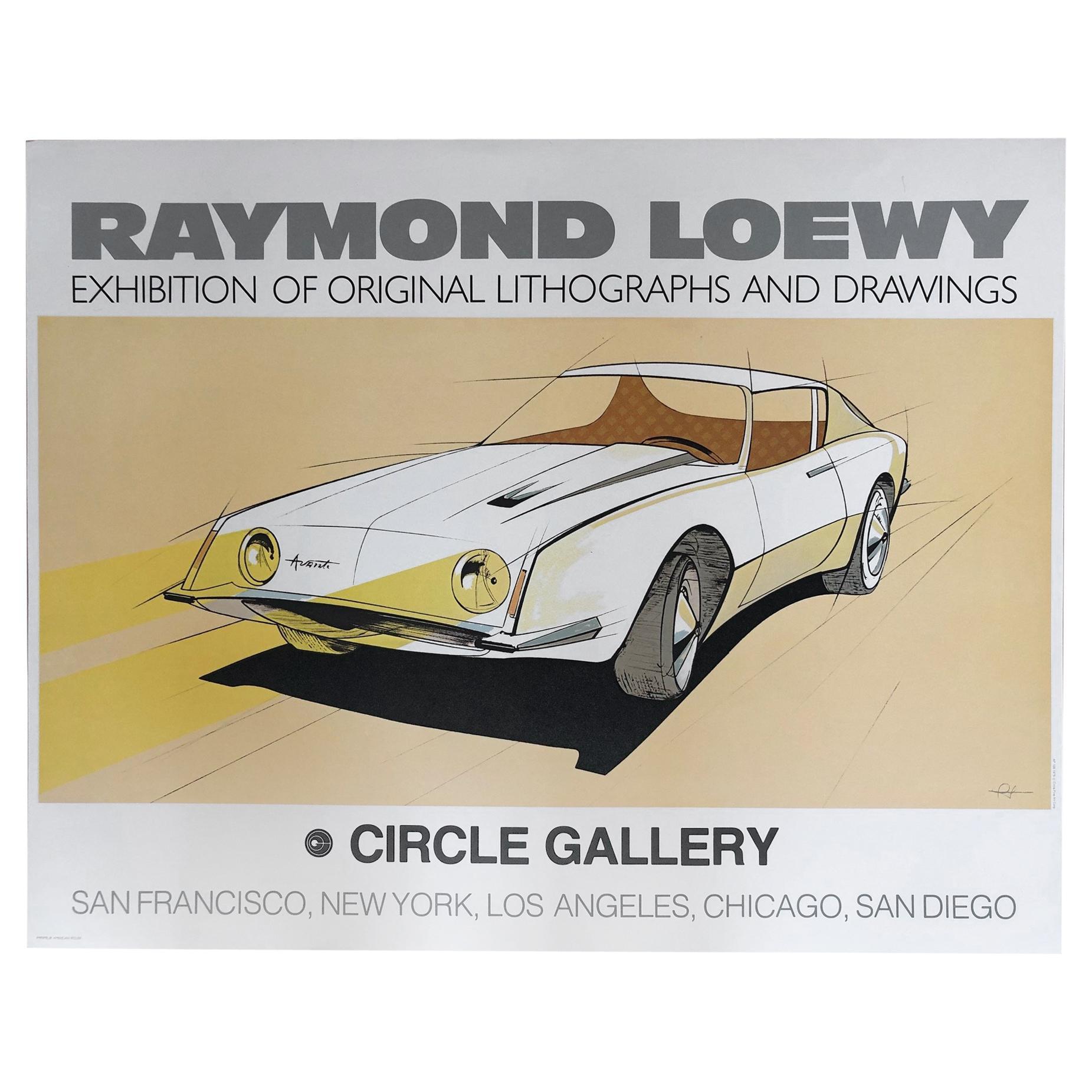 Raymond Loewy Circle Gallery 1979 Poster