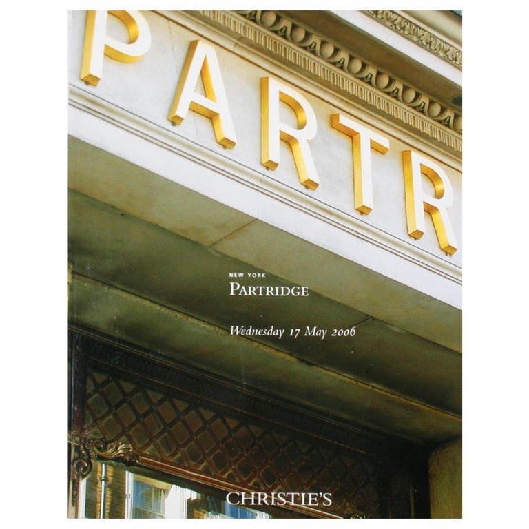 Partridge: Christie's New York May 17, 2006 For Sale
