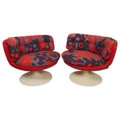 Wild Mid-Century Modern Swivel Chairs by Stjernmöbler
