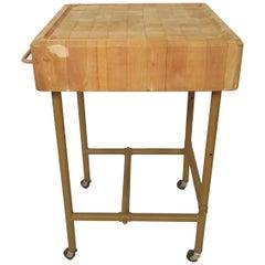 Vintage Butcher Block Table Made in Sweden