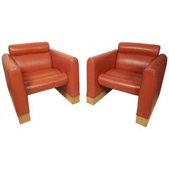Pair of Square Lounge Chairs