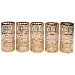 Hollywood Regency Style 22-Karat Gold Highball Glasses, circa 1960s
