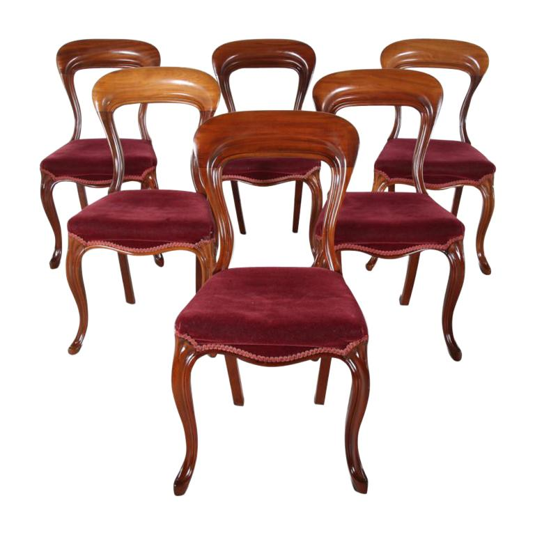 19th Century English Mahogany Dining Chairs 'Set of Six' For Sale