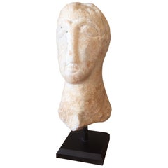 Small Romanesque Marble Head