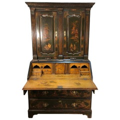 18th Century English Chinoiserie Secretary Bookcase, George III