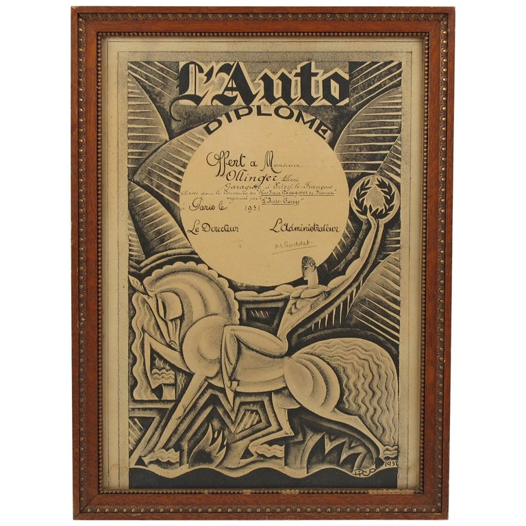 Maurice Picaud Aka Pico French Automobile Memorabilia Art Deco Magazine Print