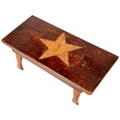 Small American Folk Art Stool, circa 1910