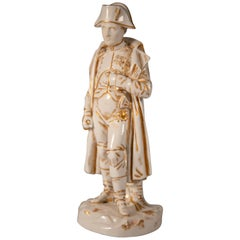 Late 19th Century Paris Porcelain Standing Statue of Napoleon Bonaparte