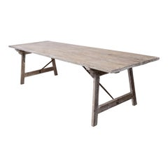 Long Painted Pine Trestle Table