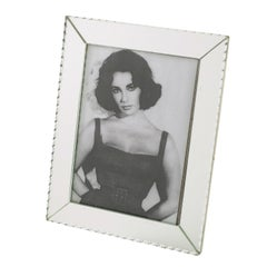 1940s French Hollywood Regency Large Mirror Picture Photo Frame