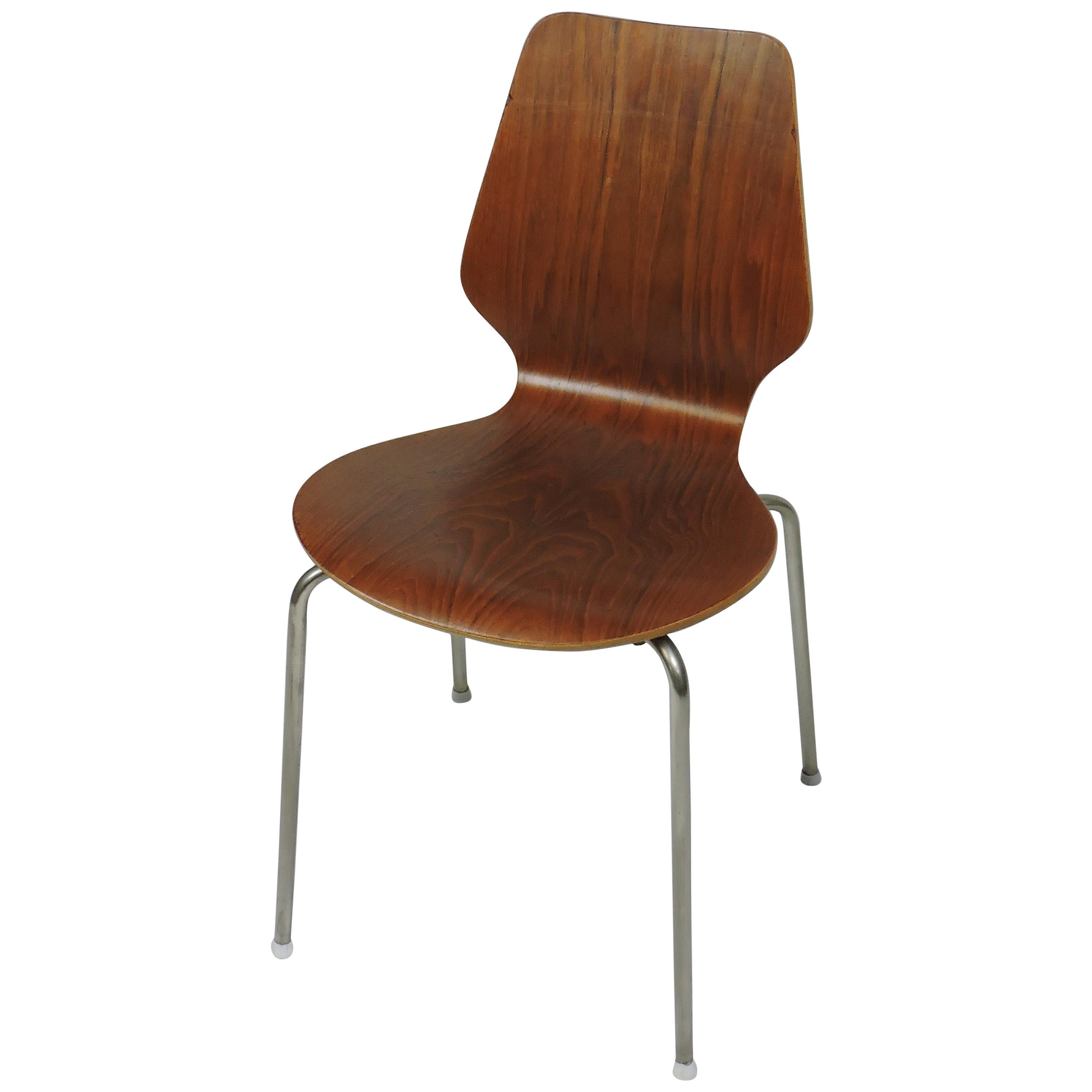 Midcentury Danish Modern Bentwood Dining, Side or Desk Chair