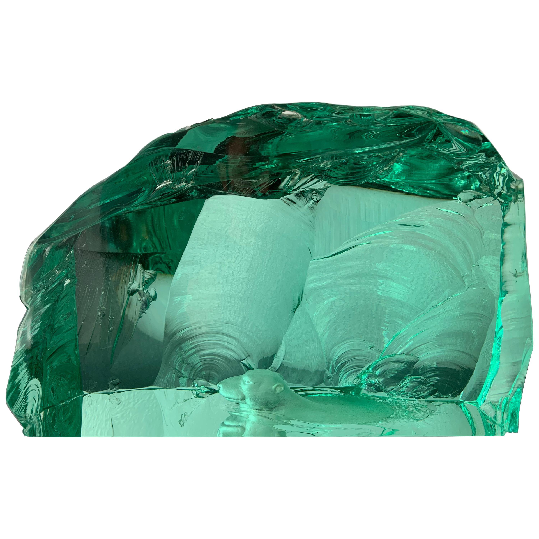 Glass Iceberg Polar Bear Sculpture
