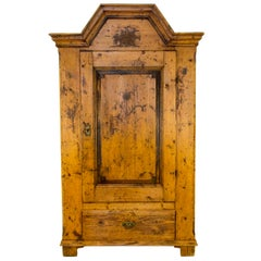 Antique One Door Baltic Pine Armoire