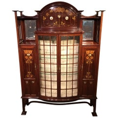 Mahogany Arts & Crafts Period Display Cabinet by Shapland & Petter