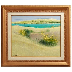 Dominique Dorie 'Rivages du Sud' Oil on Canvas Framed Painting