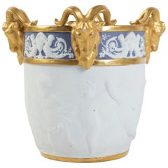Pot in Biscuit De Sèvres, 19th Century, Napoleon III Period