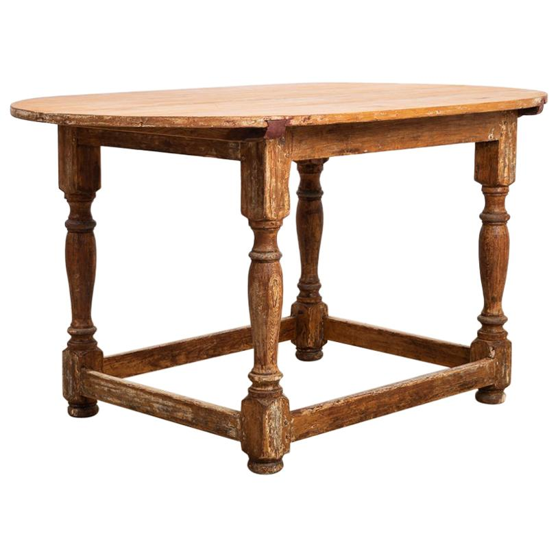 Late 18th Century Swedish Baroque Table in Pine