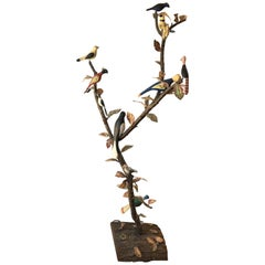 American Folk Art Tree with Birds by J. E. Neale, 20th Century