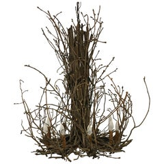 Willow Twig Branch Eight Arm Chandelier