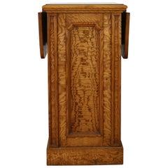 Antique Scottish William IV Figured Elm Bedside Cabinet or Pot Cupboard