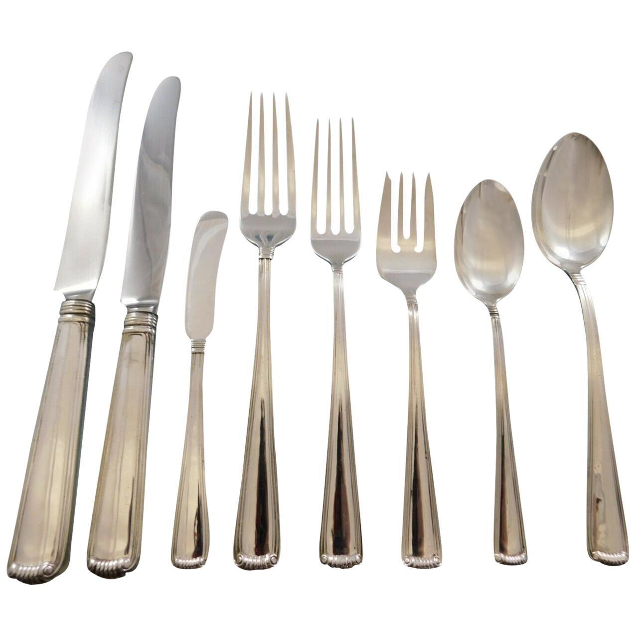 Marie Louise by Blackinton Sterling Silver Flatware Set Service 103 Pcs Dinner