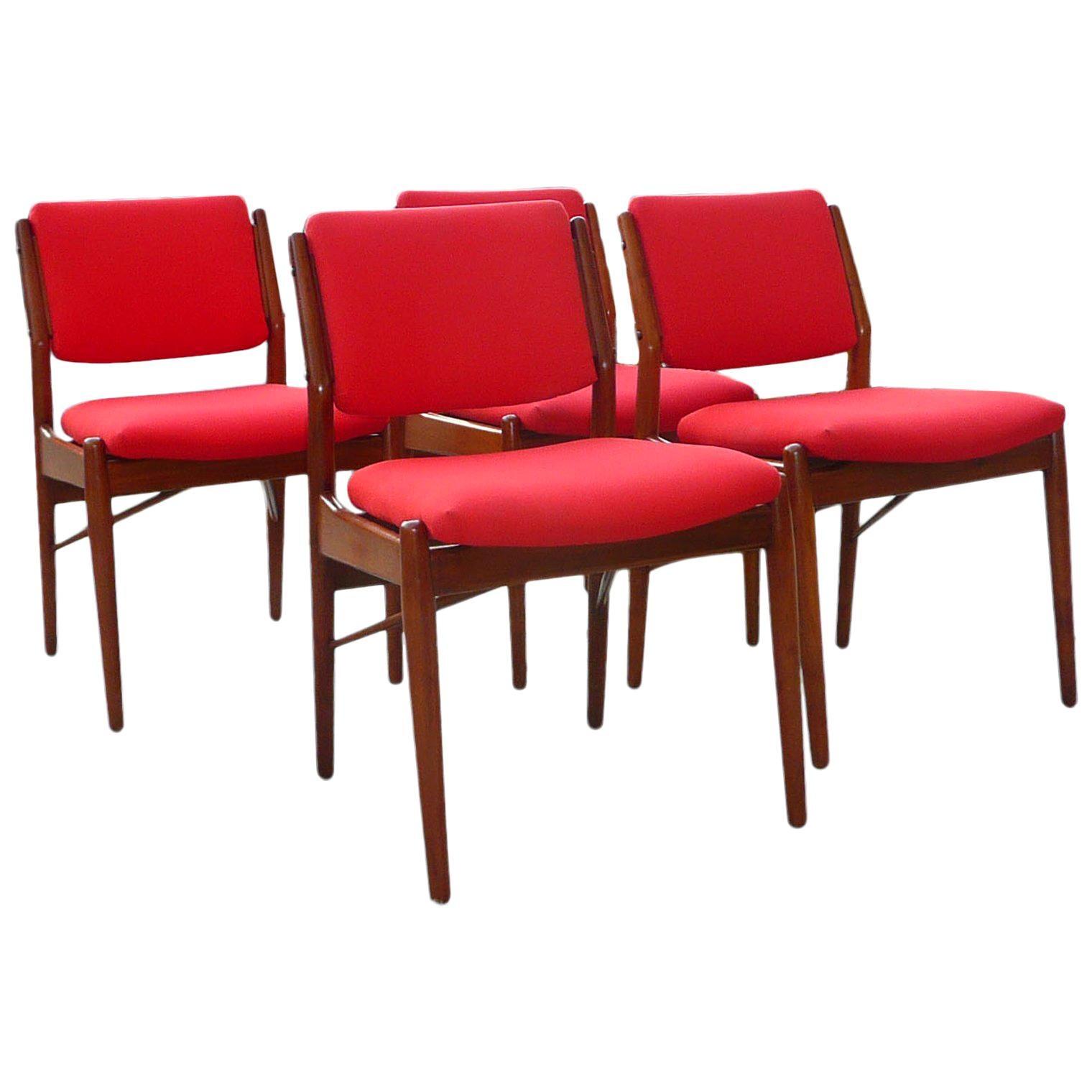Teak Dining Chairs by Arne Vodder for Sibast Mobler