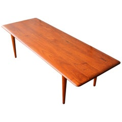 Solid Teak Knife Edge Coffee Table by Hvidt & Molgaard Nielsen for France & Son