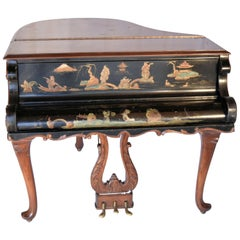 1920 Louis XV Steinway Style Grand Piano Desk with Chinoiserie Art Case