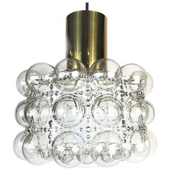 Space Age Helena Tynell Glashütte Limburg Bubble Pendant Light, 1960s, Germany