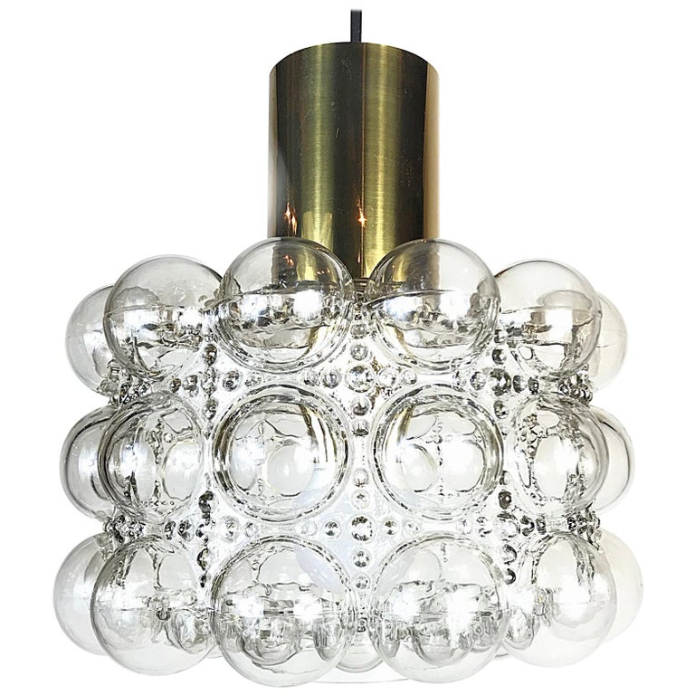 Space Age Helena Tynell Glashütte Limburg Bubble Pendant Light, 1960s, Germany For Sale