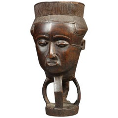 Kuba Palm Wine Cup, Tribal African, Congo, Africa