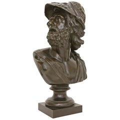 Bronze Bust of Menelaus King of Sparta Grand Tour