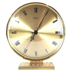 Large Atlanta Exclusiv Midcentury Moden Brass Table Clock, 1950s, Germany