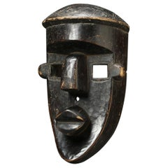 Cubist Large Lwalwa Tribal African Mask, DRC