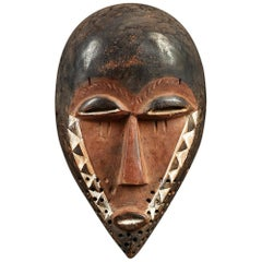Small Elegant Tribal Pende African Mask, DRC