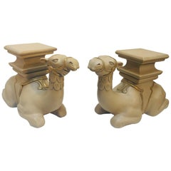 Pair of Camel Sculptures Stools or Side Tables
