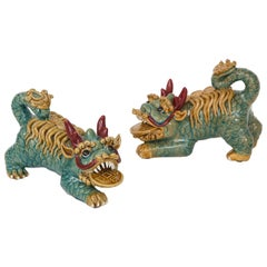 Midcentury Chinese Porcelain Foo Dogs